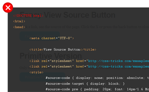 view source button